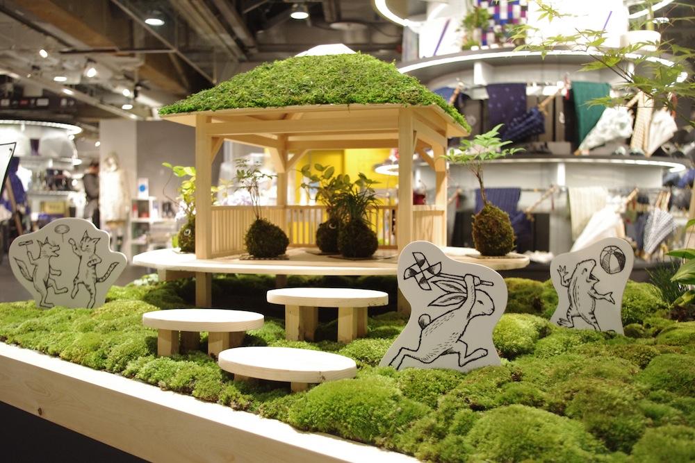 渋谷の真ん中に、もこもこもふもふした苔の庭、作りました!